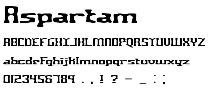 Aspartam font