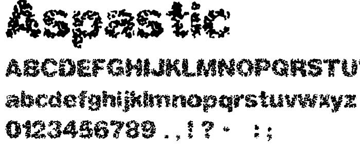 Aspastic font