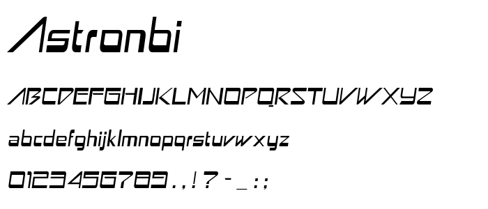Astronbi font