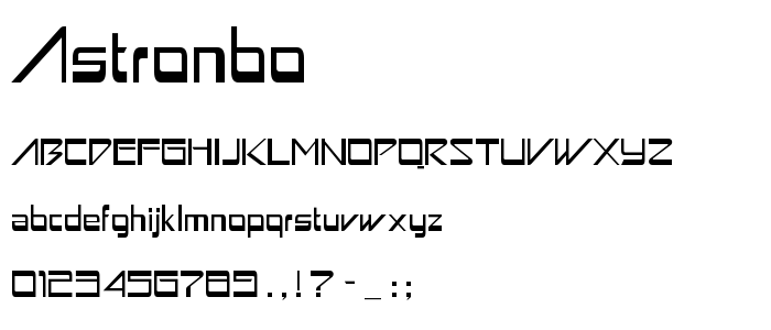 Astronbo font