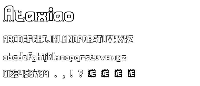 Ataxiao font