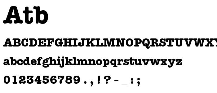 Atb font