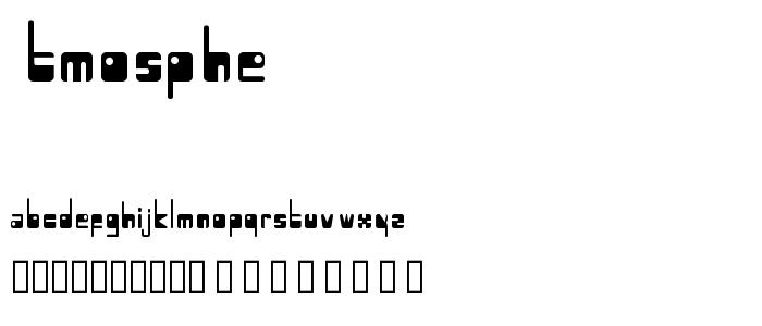 Atmosphe font