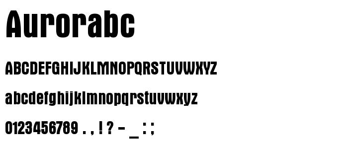 Aurorabc font