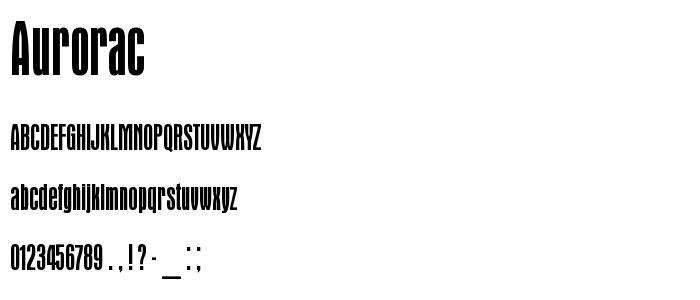 Aurorac font