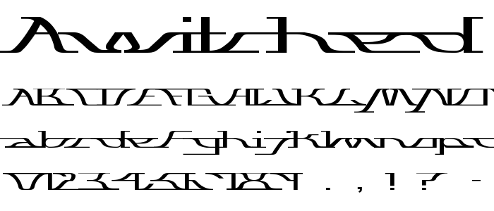 Awitched font