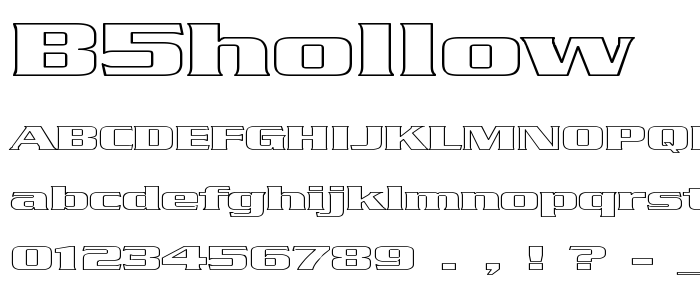 B5hollow font