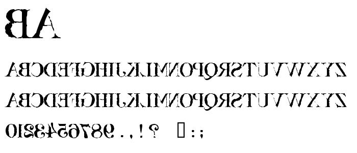 ba______.ttf font