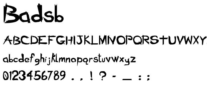 Badsb font