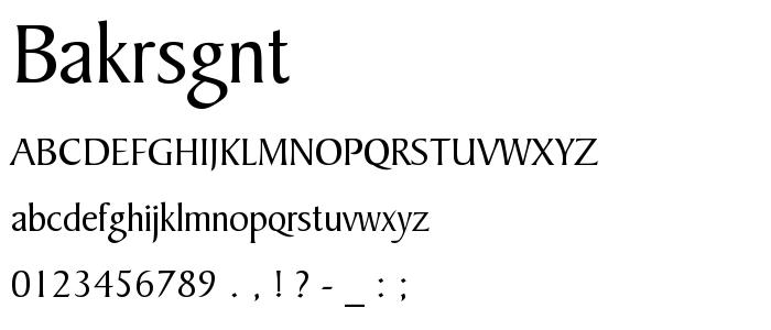 Bakrsgnt font