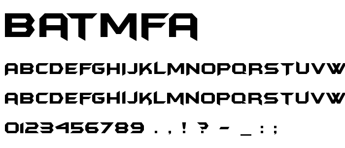 Batmfa font