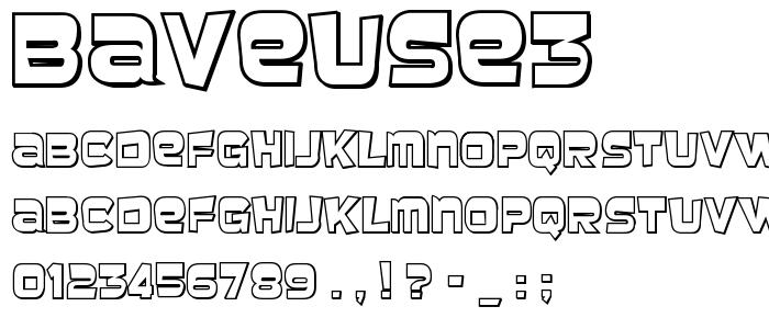 Baveuse3 font
