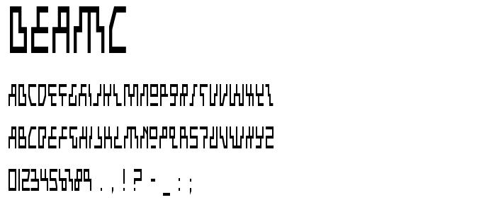 Beamc font