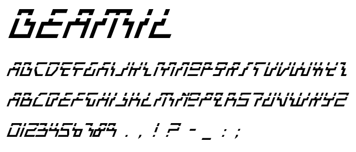 Beamil font