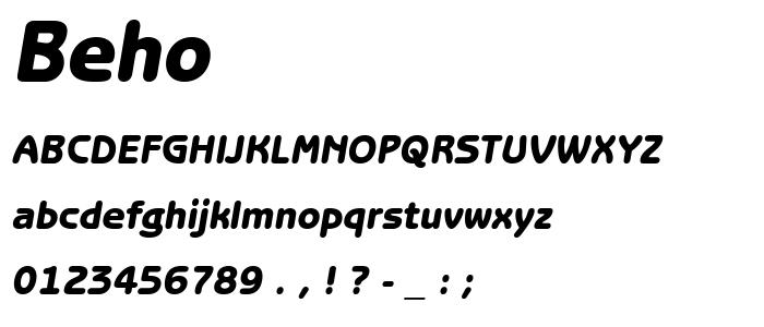 Beho font