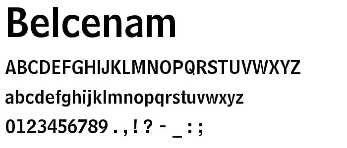 Belcenam font