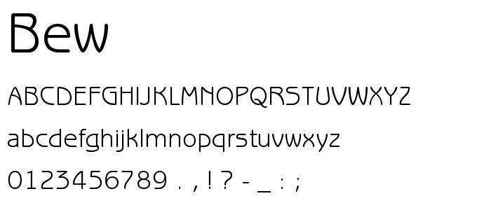 Bew font