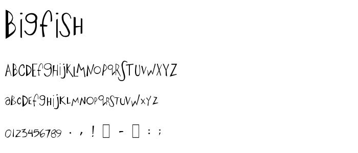 Bigfish font