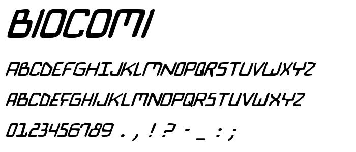 Biocomi font