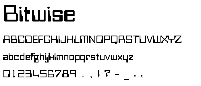Bitwise font