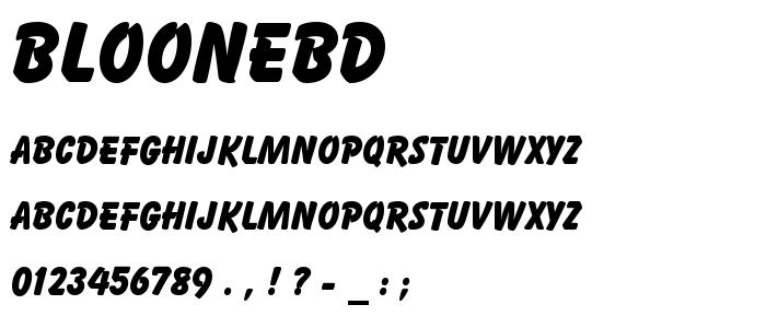 Bloonebd font