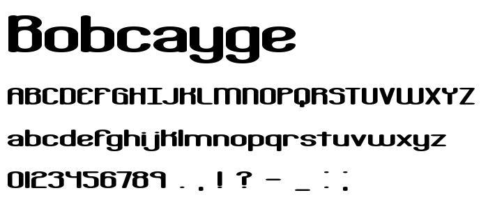 Bobcayge font