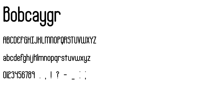 Bobcaygr font