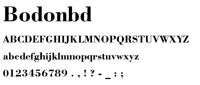 Bodonbd font