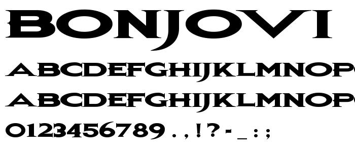 Bonjovi font