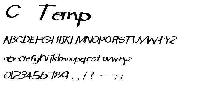 C  Temp font
