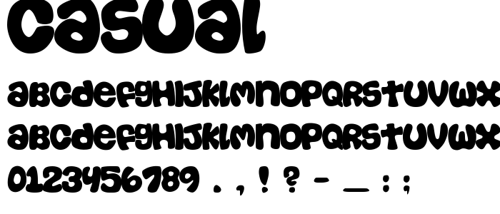 Casual Free Font Download - Font Supply