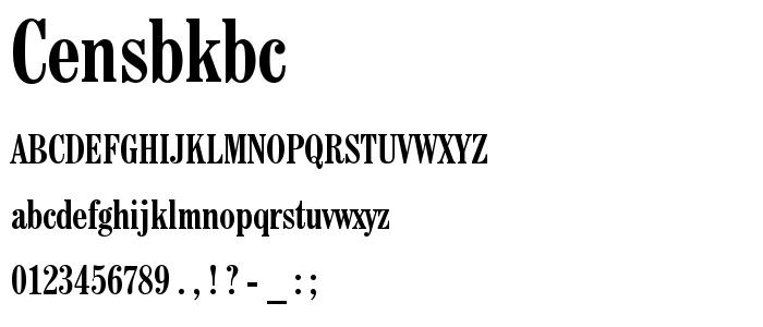 Censbkbc font