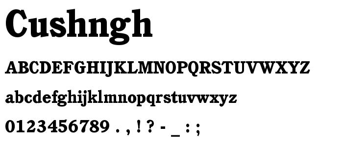 Cushngh font