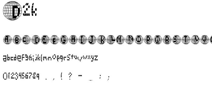 D2k font