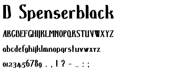 D Spenserblack font
