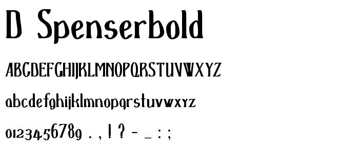 D Spenserbold font