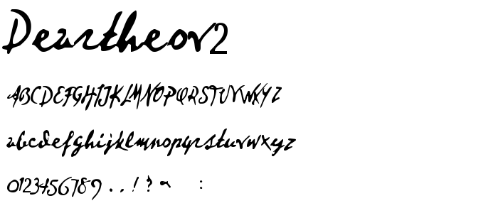 Deartheov2 font