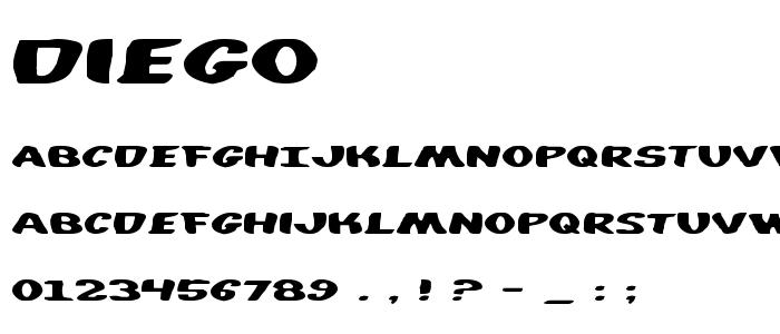 Diego font