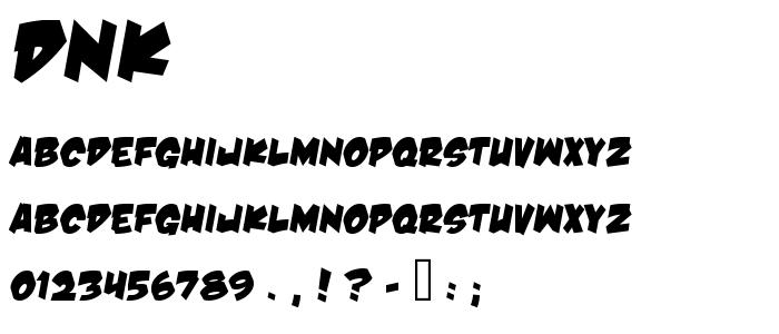 Dnk font