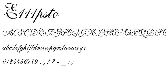 E111psto font