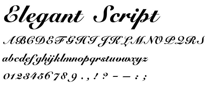 Download elegantscript ttf
