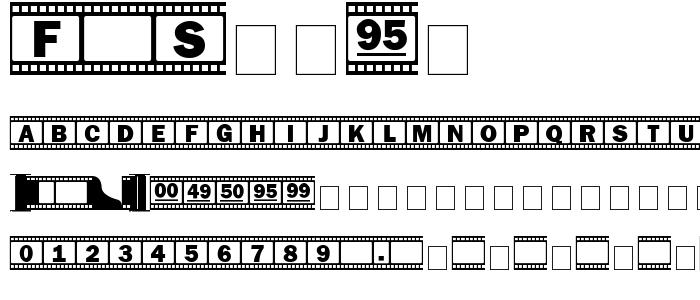 F Strip font