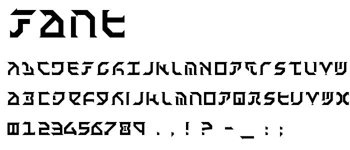 Fant font