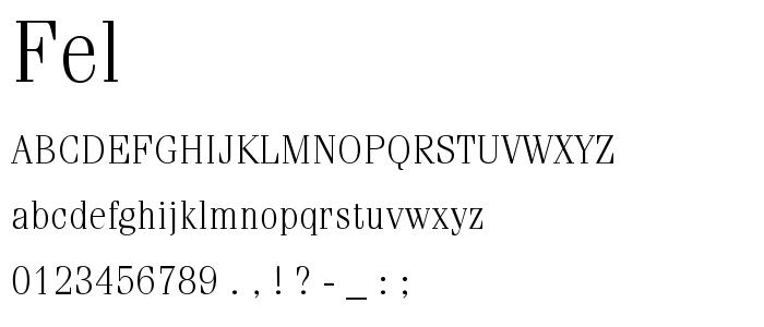 Fel font