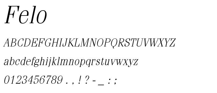 Felo font