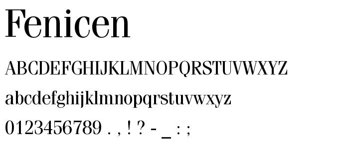 Fenicen font