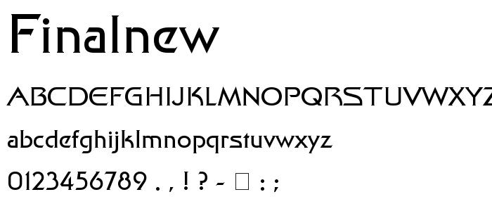 Finalnew font