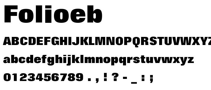 Folioeb font