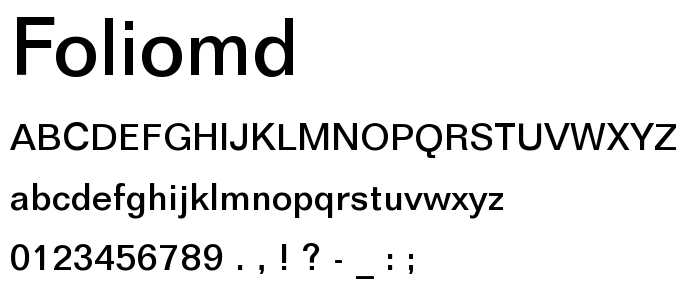 Foliomd font