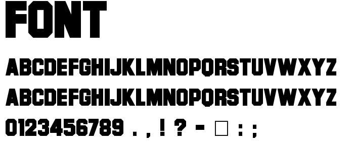 Font font